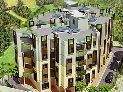 Gallery Cover Image of 720 Sq.ft 2 BHK Apartment for rent in Shantiniketan Apartment III, South Dum Dum for 15000