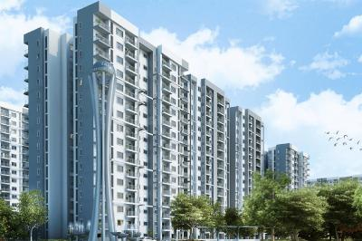 Gallery Cover Image of 1345 Sq.ft 3 BHK Apartment for buy in L And T Raintree Boulevard Phase 2, Sahakara Nagar for 13100000