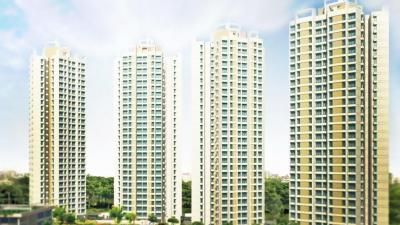 Gallery Cover Image of 650 Sq.ft 1 BHK Apartment for rent in Dynamix Group Parkwoods D5, Thane West for 17000