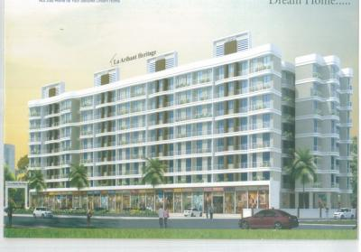 Gallery Cover Image of 610 Sq.ft 1 BHK Apartment for rent in La Arihant Heritage, Kasgaon -Ambernath for 2000