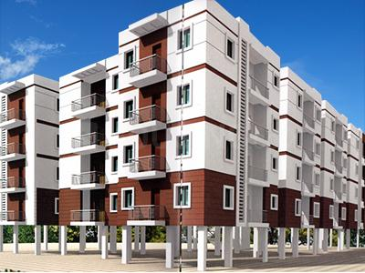 Gallery Cover Image of 1040 Sq.ft 2 BHK Apartment for buy in CDR Ixora, NRI Layout for 6200000