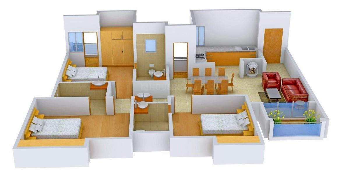 Floor Plan Image of 602 - 2317 Sq.ft 1 BHK Apartment for buy in Appaswamy Greensville