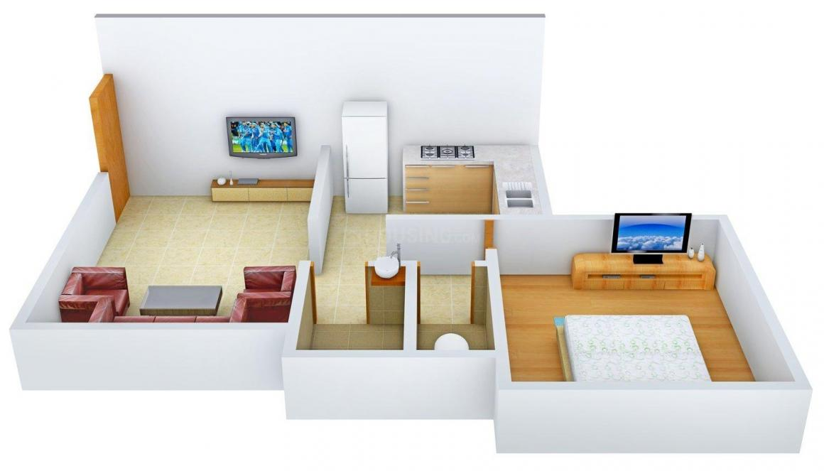 Floor Plan Image of 750 - 1140 Sq.ft 1 BHK Apartment for buy in UP Market Surbhi Complex