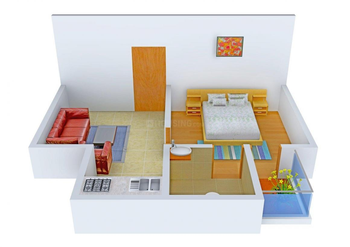 Floor Plan Image of 0 - 450.0 Sq.ft 1 BHK Independent Floor for buy in Yadav Floors Neb Sarai