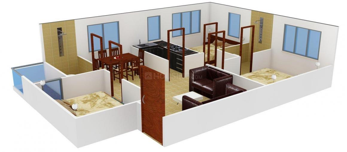 Floor Plan Image of 1248.0 - 1446.0 Sq.ft 2.5 BHK Apartment for buy in Daffodil La Bella Vista