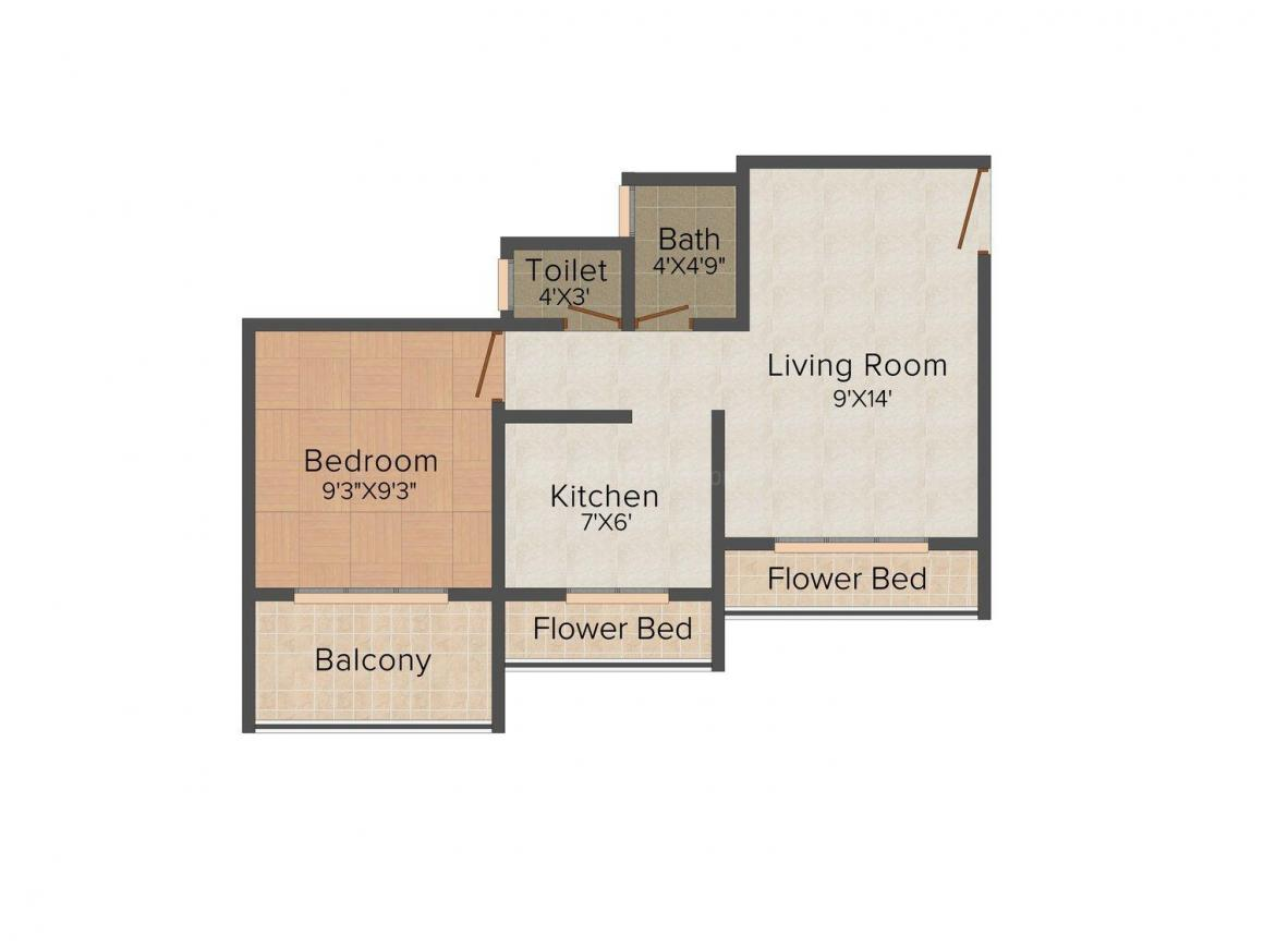 Floor Plan Image of 680.0 - 1085.0 Sq.ft 1 BHK Apartment for buy in Bhoomi Anand Shree Shyam Darshan