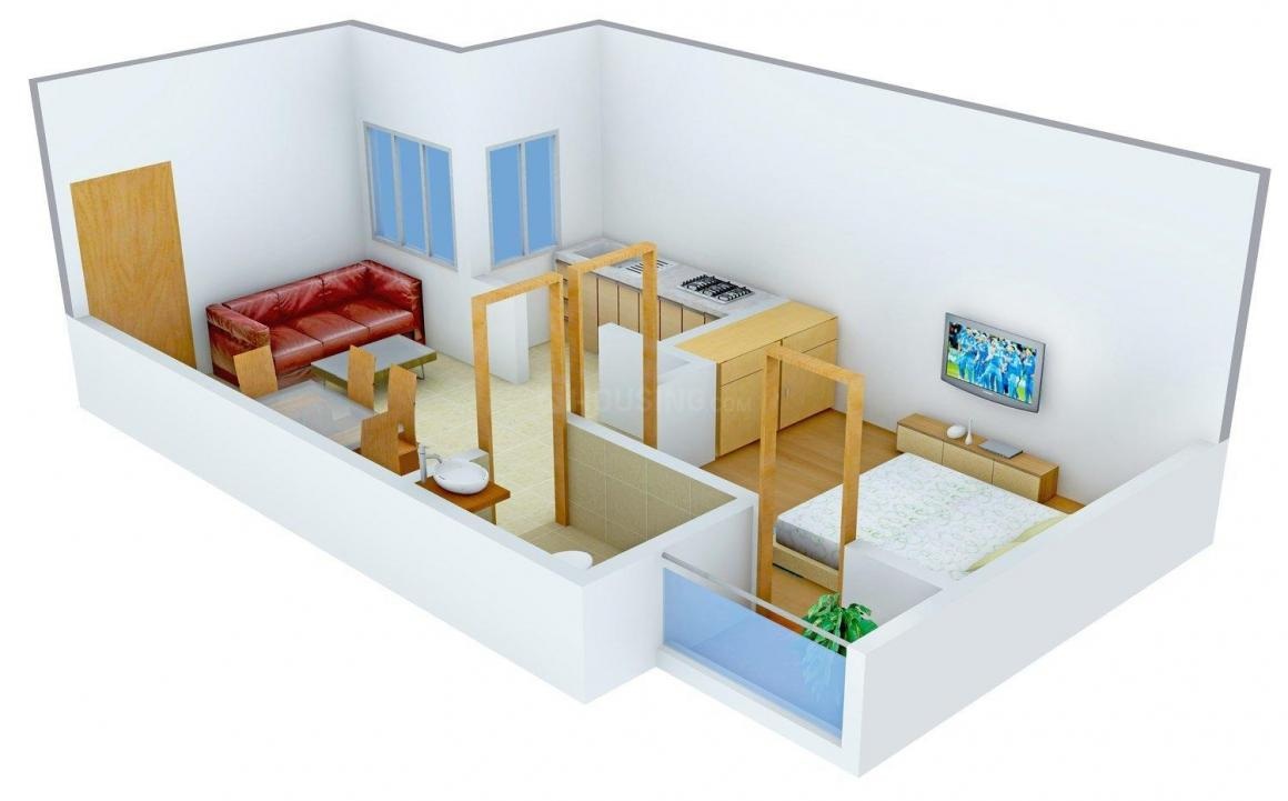 Floor Plan Image of 550 - 900 Sq.ft 1 BHK Independent Floor for buy in Marshal Florence Apartment