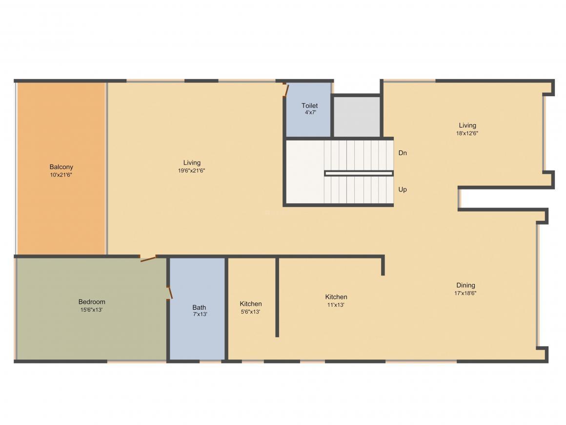 Jayabheri Temple Tree Floor Plan: 4 BHK Unit with Built up area of 5090 sq.ft 1