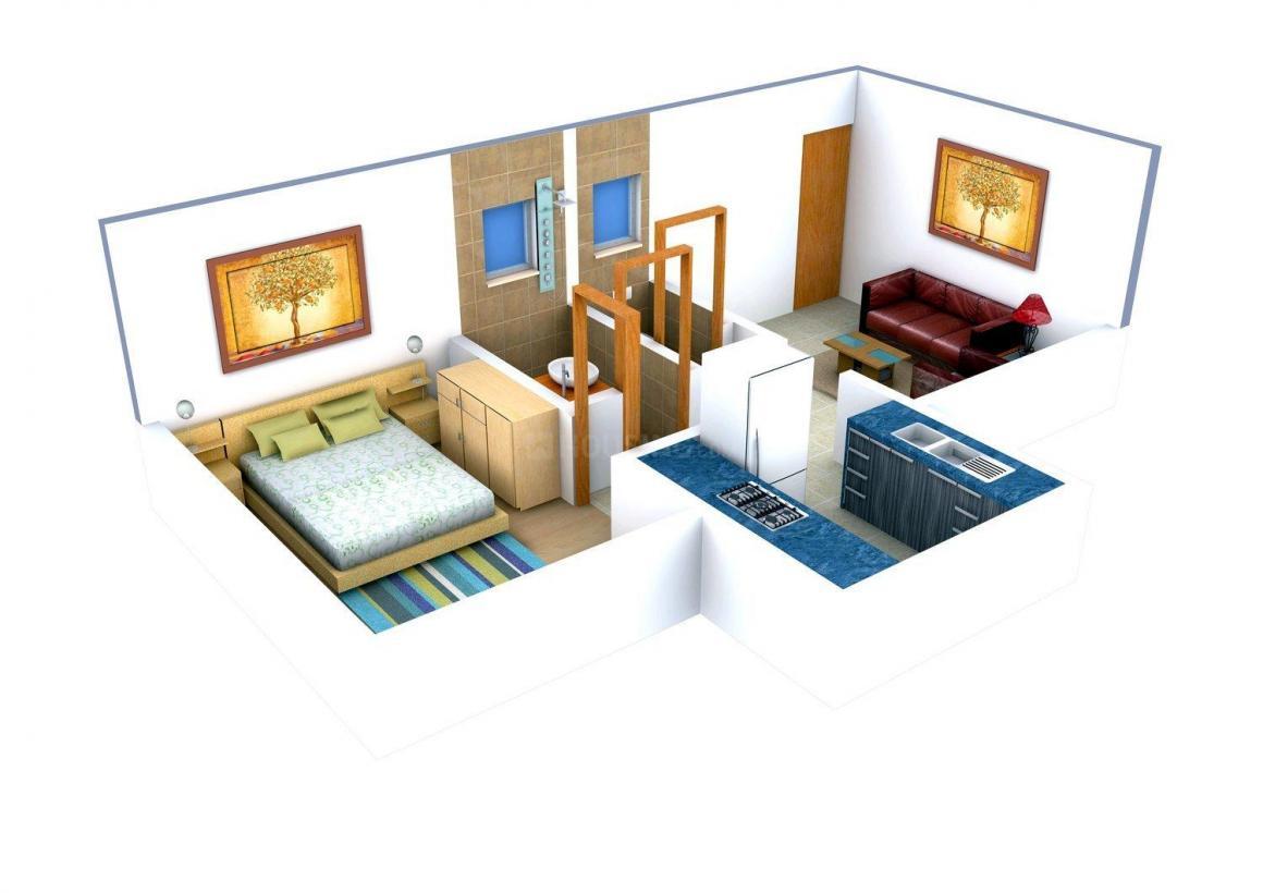 Floor Plan Image of 560.0 - 906.0 Sq.ft 1 BHK Apartment for buy in Parmeshwari Lotus Residency