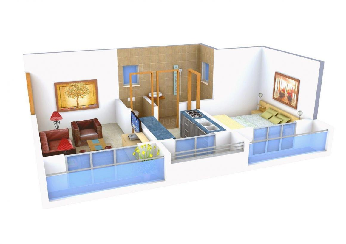 Rehan & Suzan Floor Plan: 1 BHK Unit with Built up area of 390 sq.ft 1