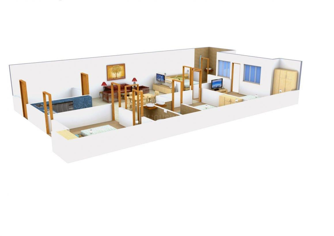 Jai Ambey Floors Floor Plan: 4 BHK Unit with Built up area of 2340 sq.ft 1