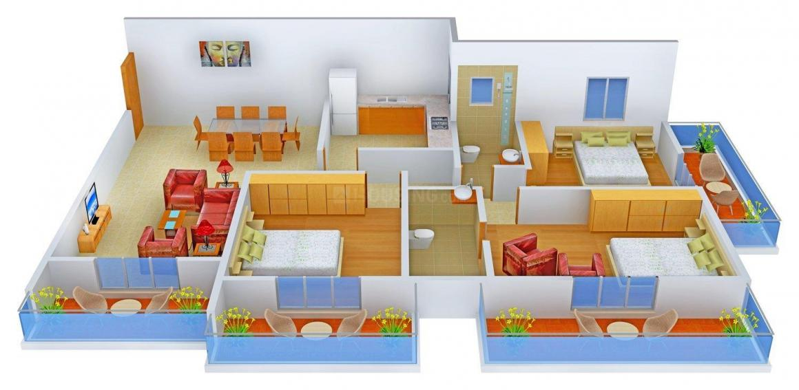 Floor Plan Image of 0 - 1560 Sq.ft 3 BHK Apartment for buy in Models Mystique