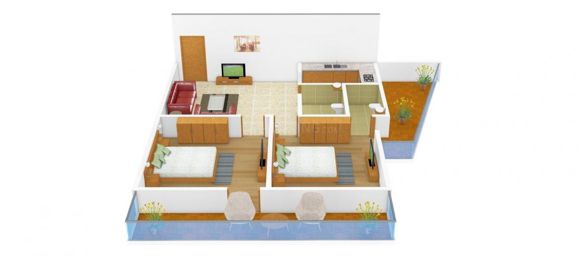 Floor Plan Image of 520.0 - 730.0 Sq.ft 2 BHK Independent Floor for buy in Blitz Homes - I