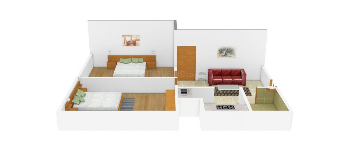 Narayanji Site-1 Floor Plan: 2 BHK Unit with Built up area of 450 sq.ft 1
