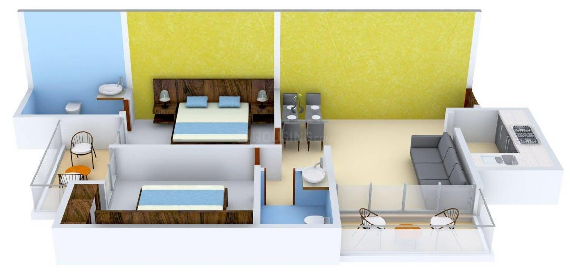 Floor Plan Image of 0 - 980.0 Sq.ft 2 BHK Apartment for buy in BDI Ambaram