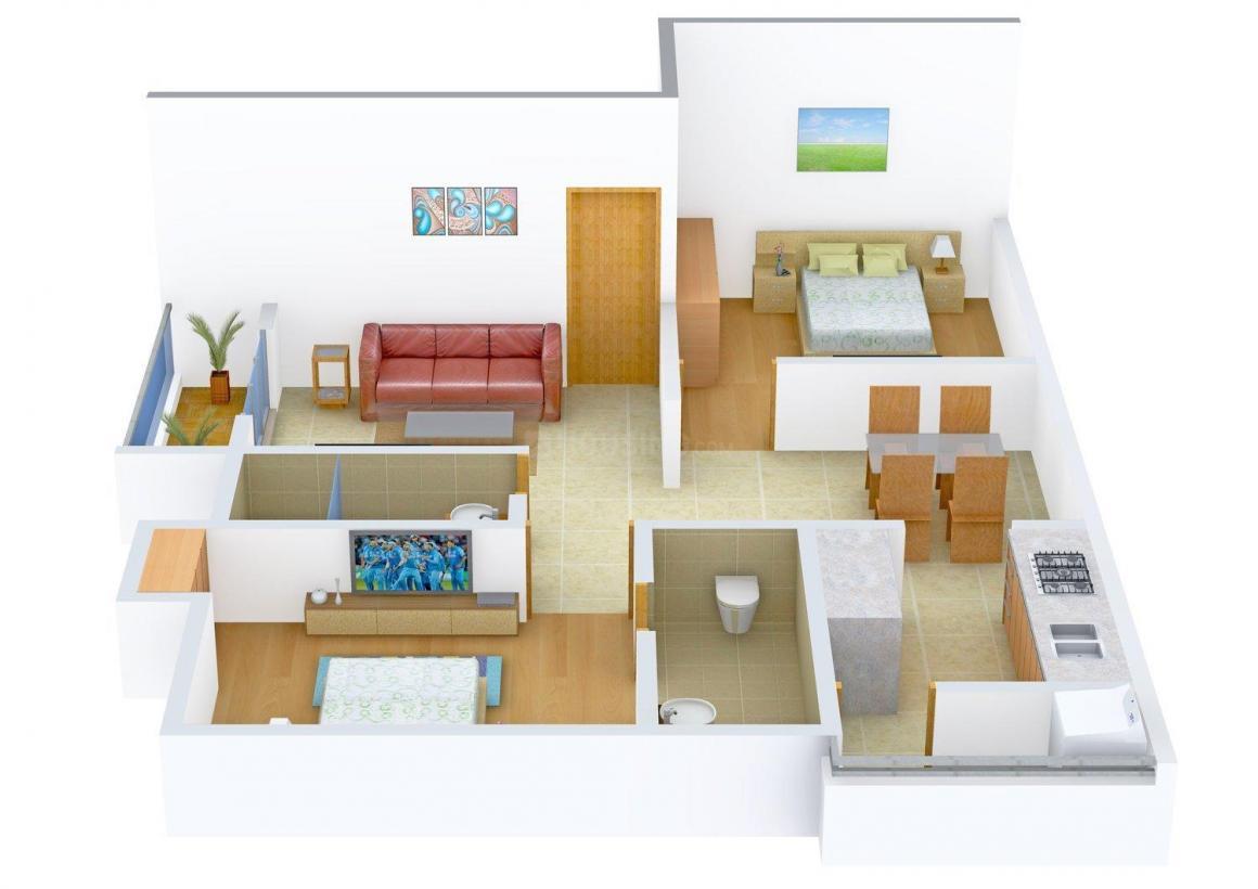 Floor Plan Image of 974 - 1146 Sq.ft 2 BHK Apartment for buy in Poomalai Ruchika