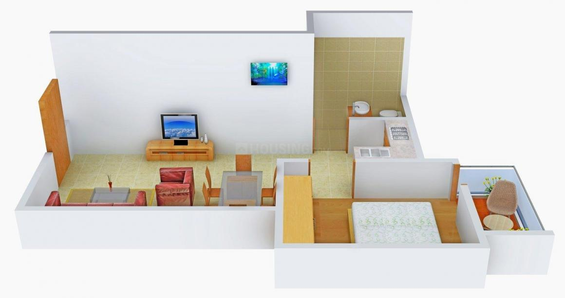 Aatreyee Toshanee Floor Plan: 1 BHK Unit with Built up area of 640 sq.ft 1