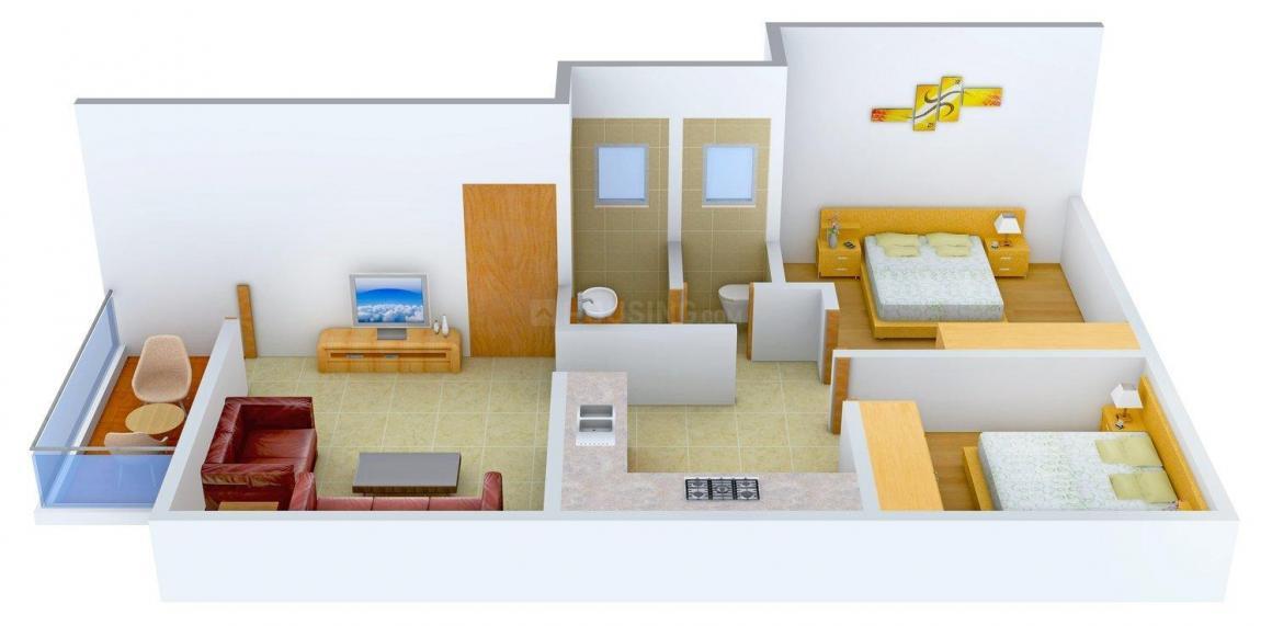 Floor Plan Image of 0 - 770 Sq.ft 2 BHK Apartment for buy in Sonal Prathamesh Heights