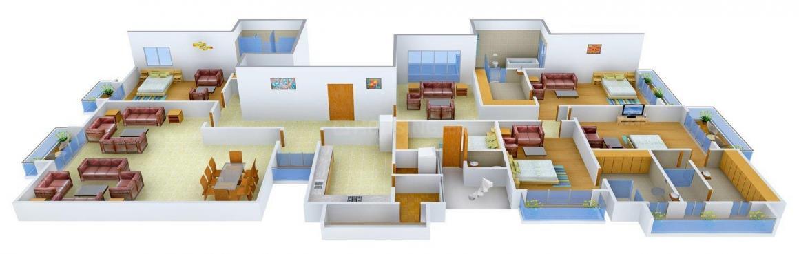 Floor Plan Image of 0 - 7200 Sq.ft 4 BHK Independent Floor for buy in Aarone Homes 2
