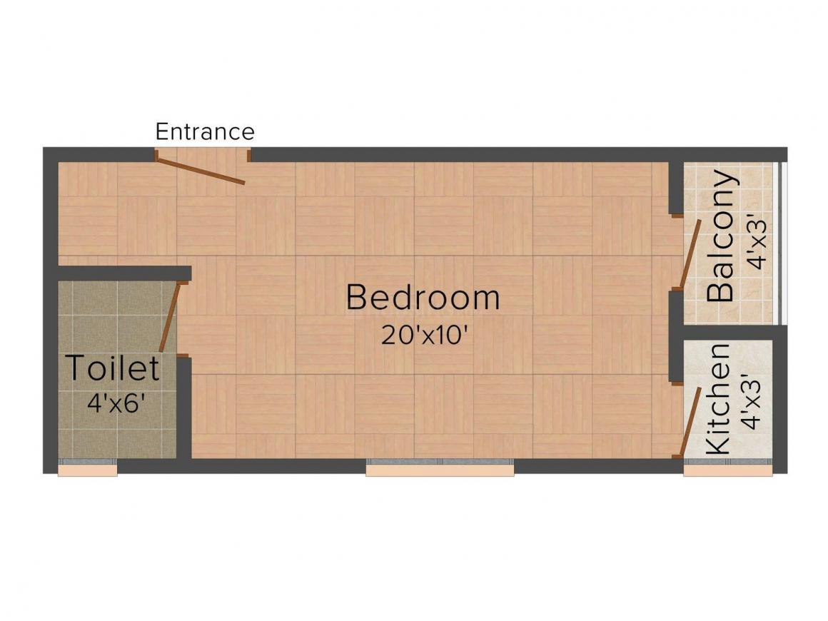 Fair Deal Site - 5 Floor Plan: 1 BHK Unit with Built up area of 200 sq.ft 1
