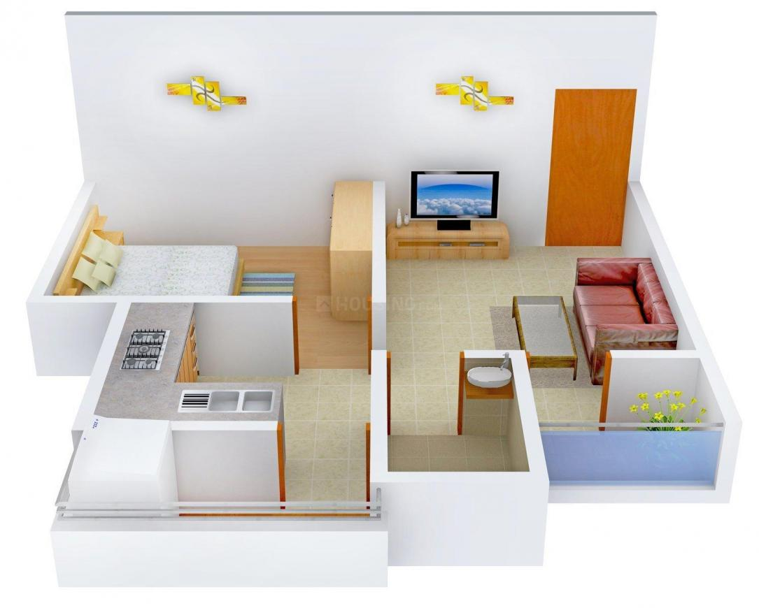 Floor Plan Image of 625.0 - 1400.0 Sq.ft 1 BHK Apartment for buy in Labh Residency - 2