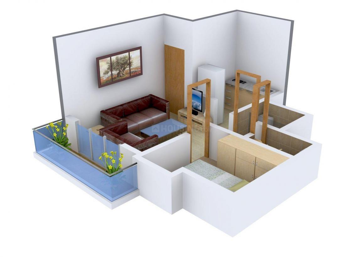 Floor Plan Image of 403 - 452 Sq.ft 1 BHK Apartment for buy in Saraswati Mateshwari Complex