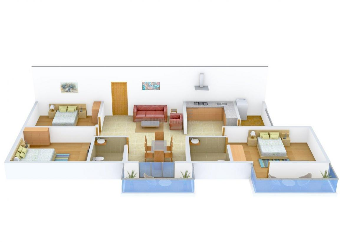 Floor Plan Image of 929 - 1474 Sq.ft 2 BHK Apartment for buy in SLS Silicon Valley