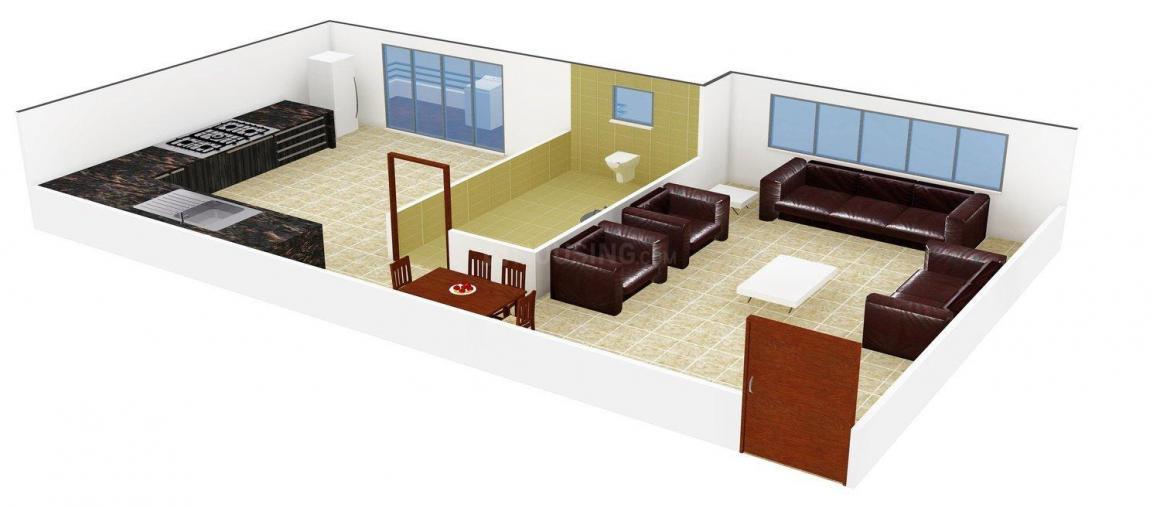 Floor Plan Image of 274.0 - 405.0 Sq.ft 1 BHK Apartment for buy in Aditya Eksar Kavita CHS