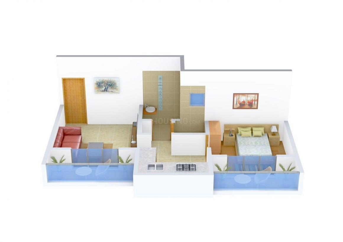 Floor Plan Image of 615.0 - 950.0 Sq.ft 1 BHK Apartment for buy in Sai Nirvaana Greens