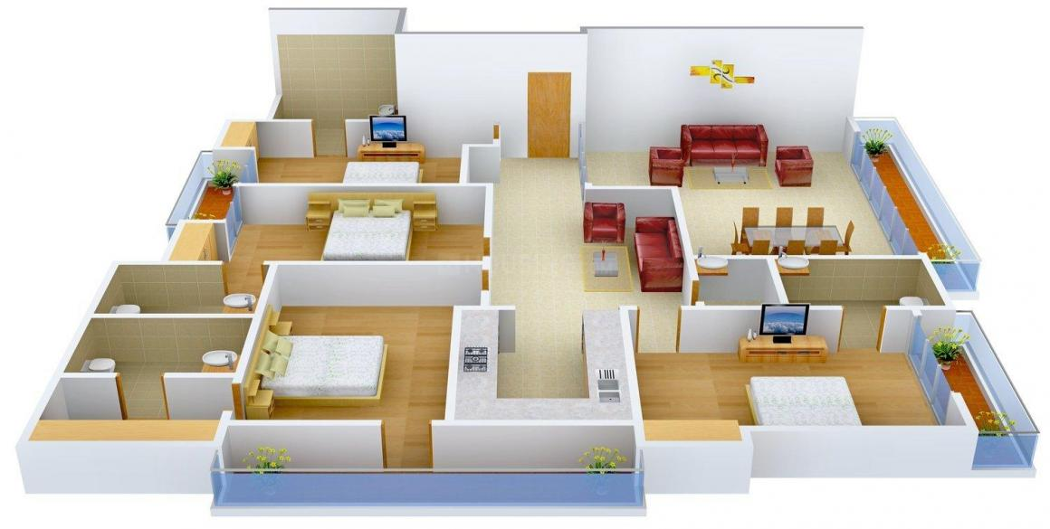 Property Linkers 1 Floor Plan: 4 BHK Unit with Built up area of 3600 sq.ft 1