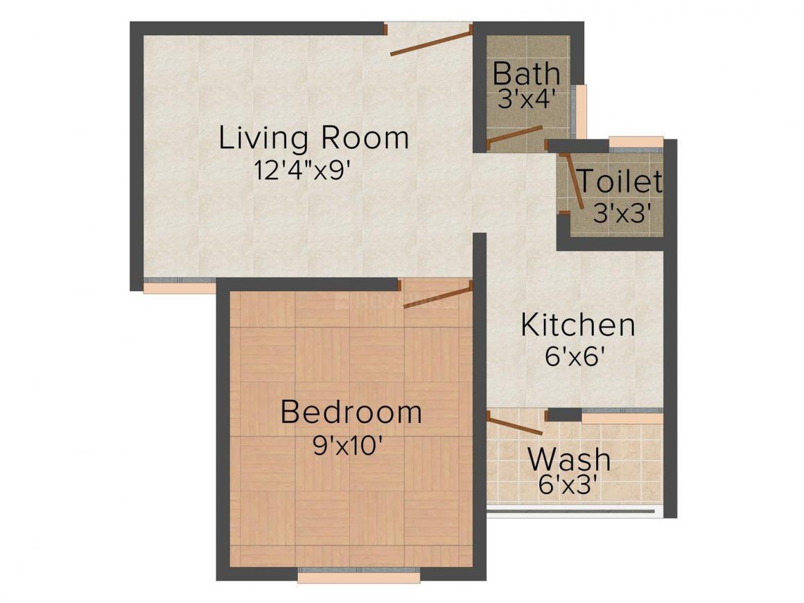Floor Plan Image of 360 - 720 Sq.ft Studio Studio Apartment for buy in Aroma Kesar City