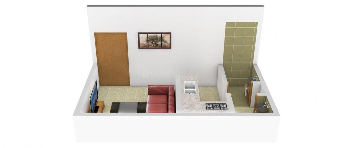 Home Art Paradise Floor Plan: 1 BHK Unit with Built up area of 265 sq.ft 1