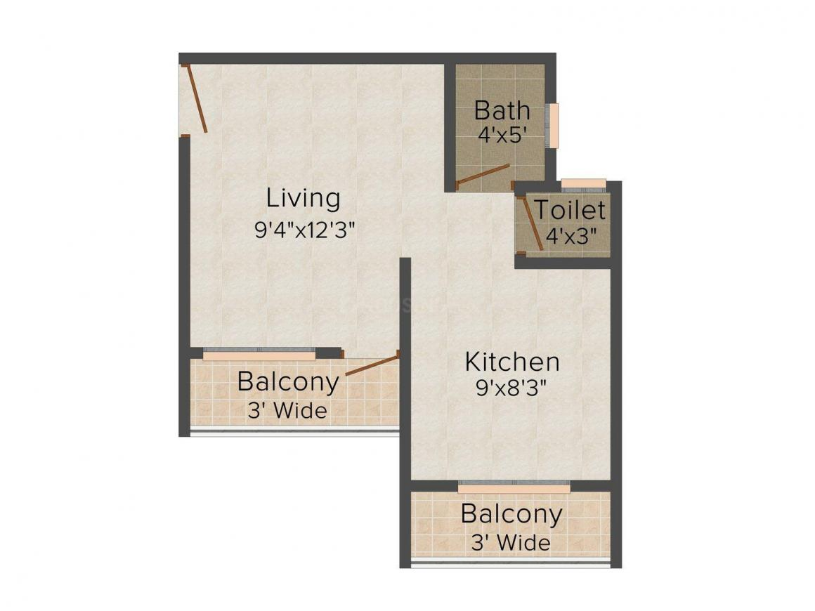 Floor Plan Image of 465.0 - 850.0 Sq.ft 1 RK Apartment for buy in Aland Prime Residency