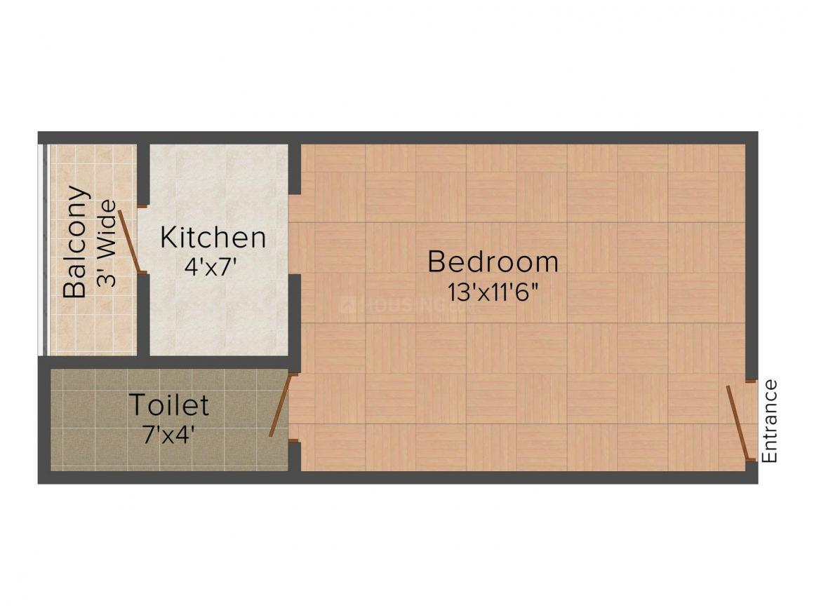 Active Eco Homes - 2 Floor Plan: 1 BHK Unit with Built up area of 220 sq.ft 1