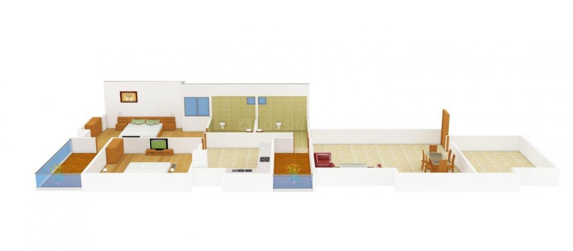 Bella Vista Floor Plan: 2 BHK Unit with Built up area of 1067 sq.ft 1