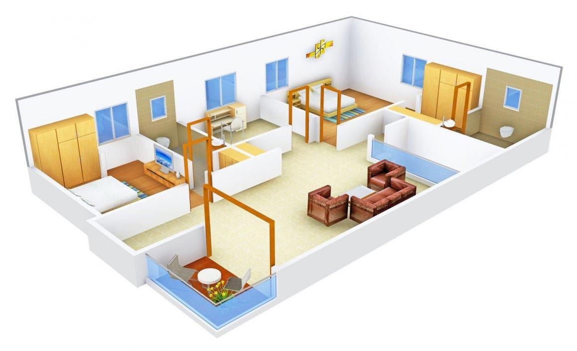Floor Plan Image of 0 - 3930 Sq.ft 4 BHK Villa for buy in Aditya Eden Woods