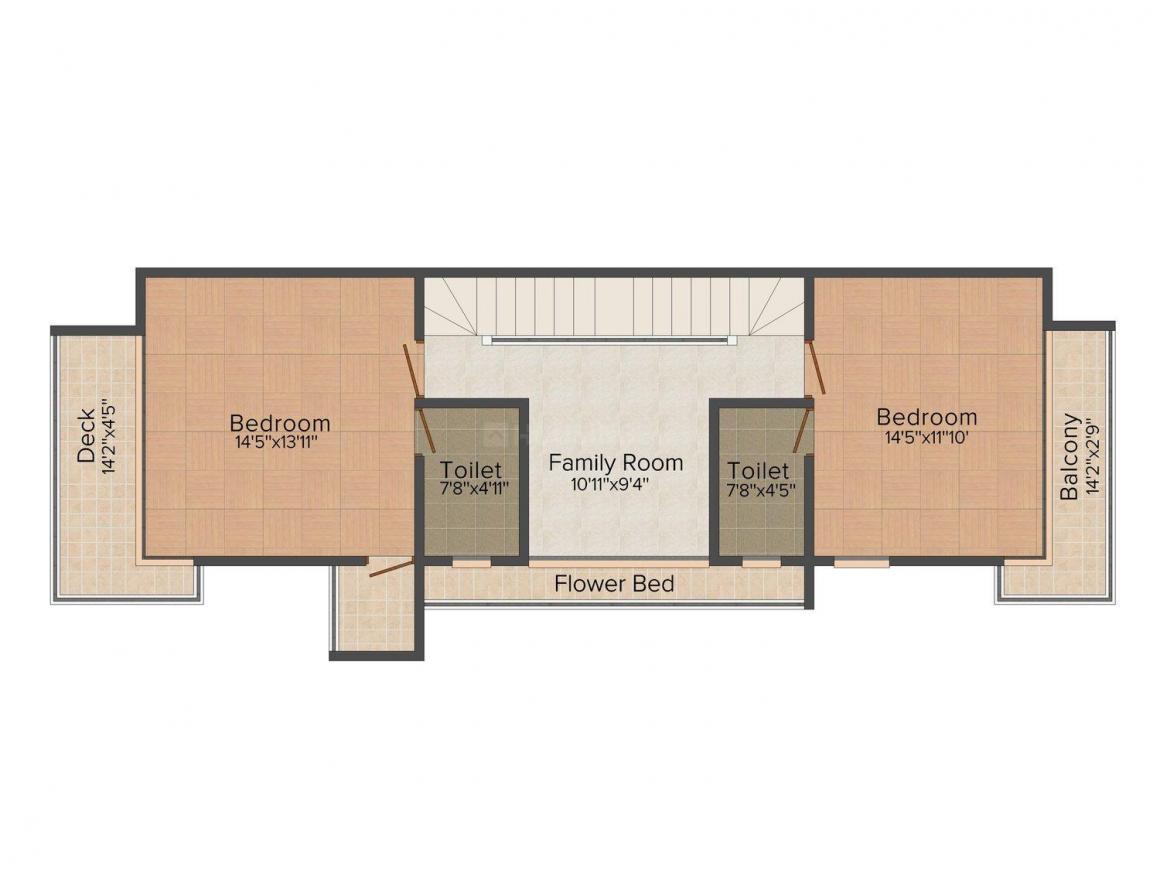 Floor Plan Image of 3865.0 - 4045.0 Sq.ft 3 BHK Bungalow for buy in Sun Montana