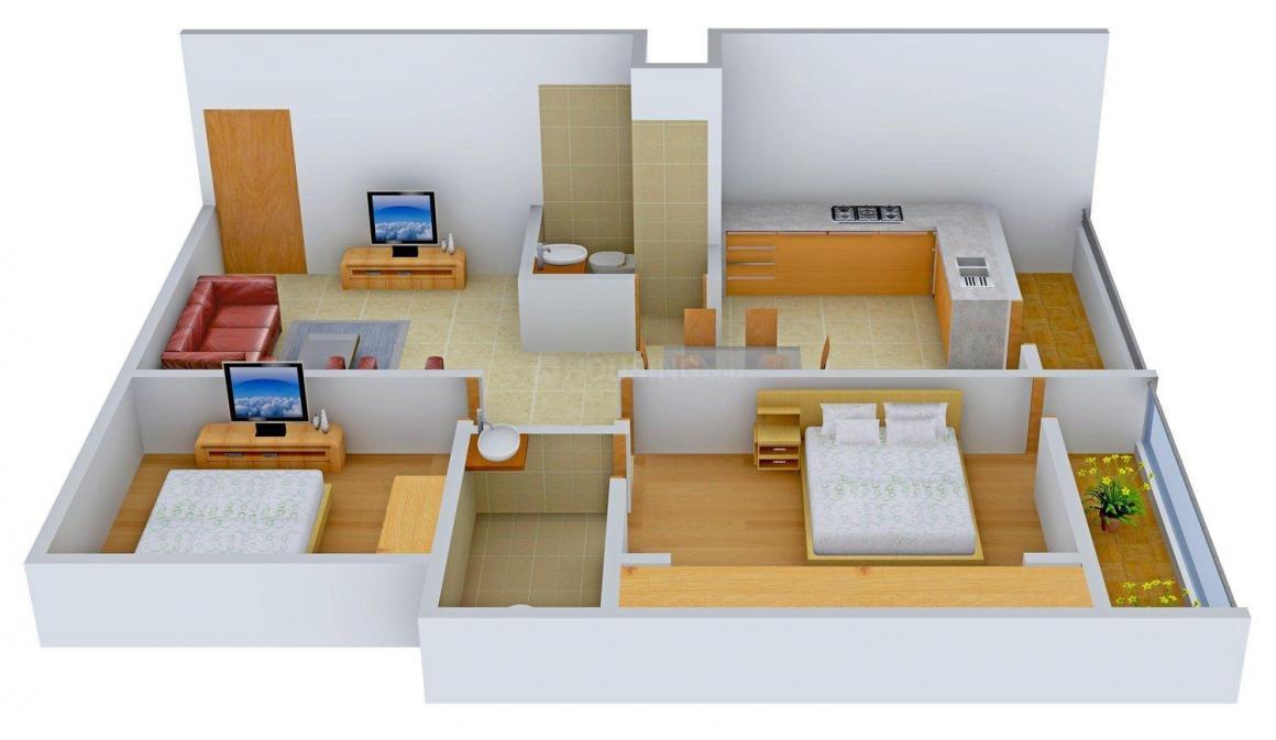 Sri Sai Nivas Floor Plan: 2 BHK Unit with Built up area of 1113 sq.ft 1