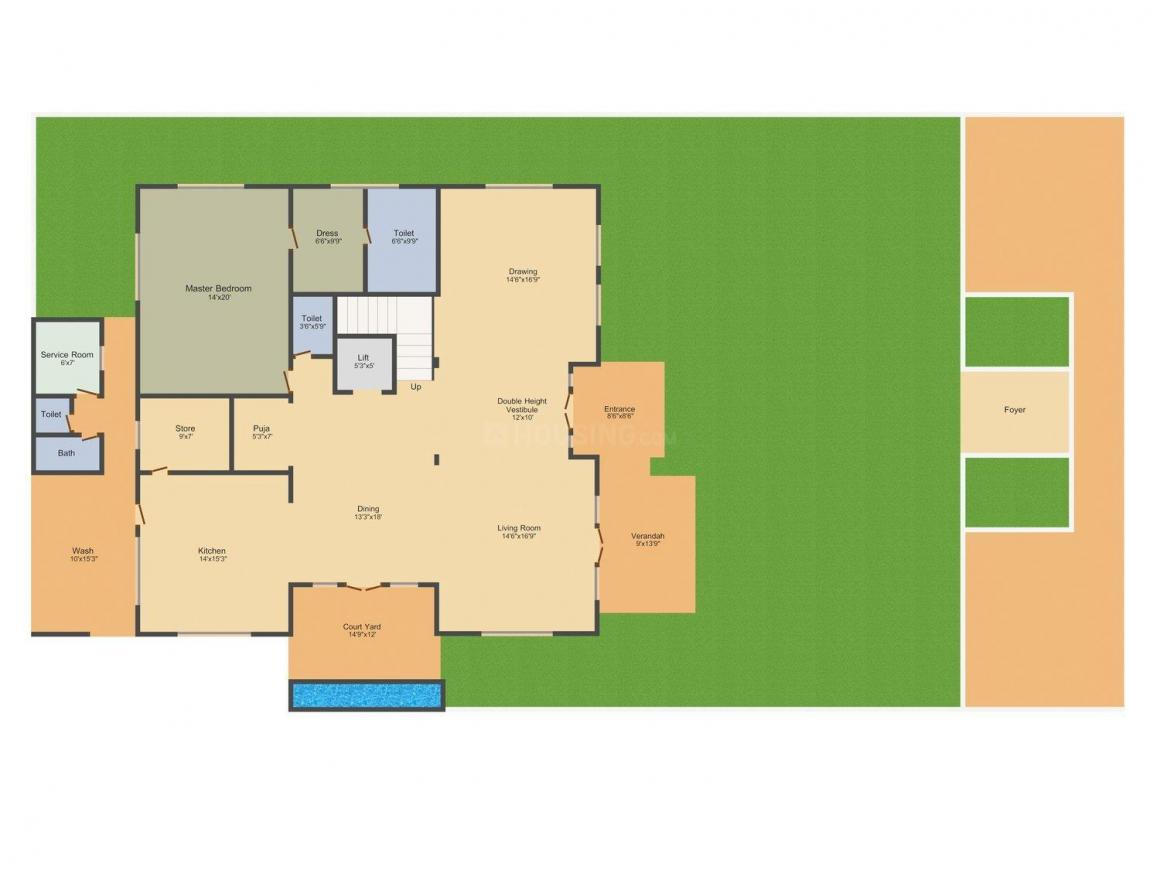 KB Grand Floor Plan: 5 BHK Unit with Built up area of 6282 sq.ft 2