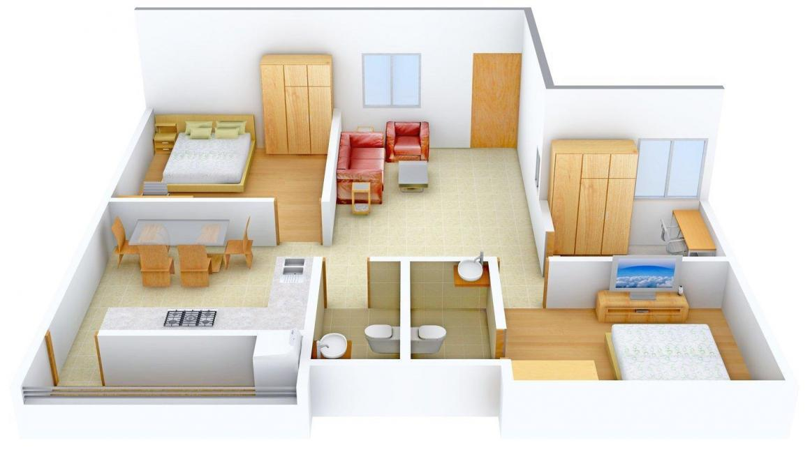 Sree Harsham Floor Plan: 2 BHK Unit with Built up area of 1100 sq.ft 1