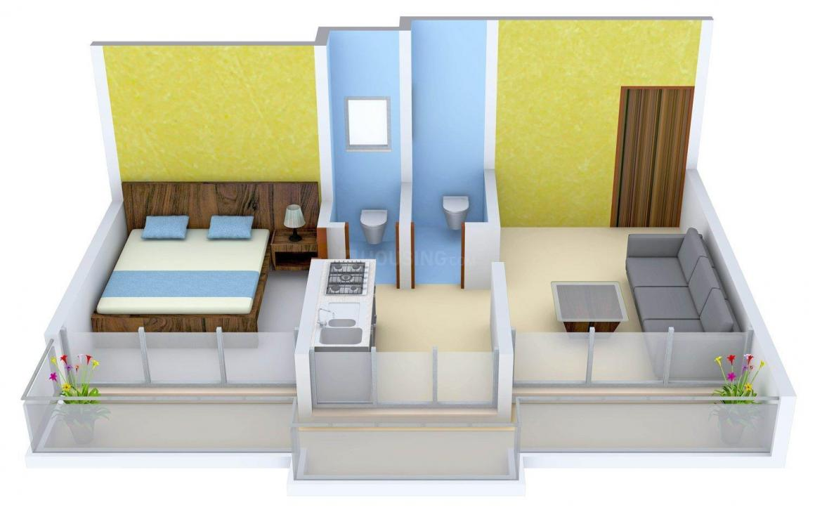 Floor Plan Image of 585 - 920 Sq.ft 1 BHK Apartment for buy in Raj Ratan Neelkanth Pride