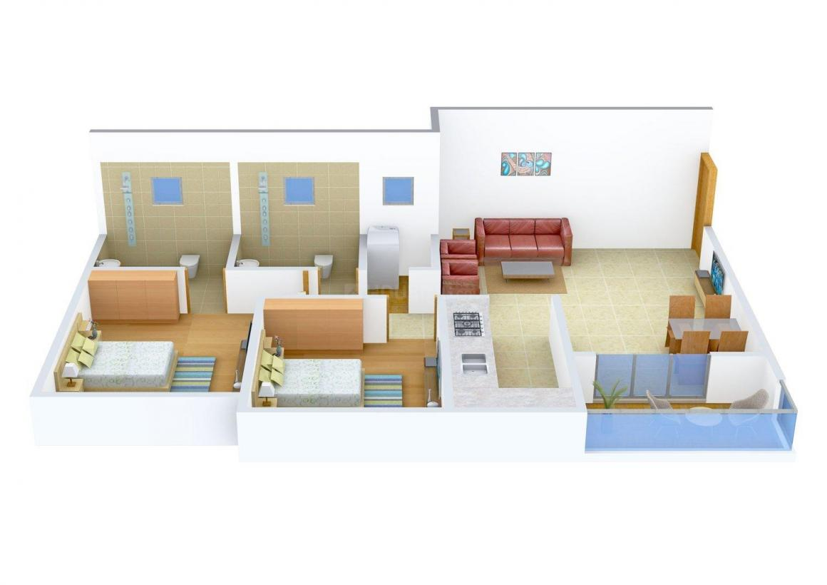 Floor Plan Image of 0 - 1180 Sq.ft 2 BHK Apartment for buy in Ashiana Dhruv