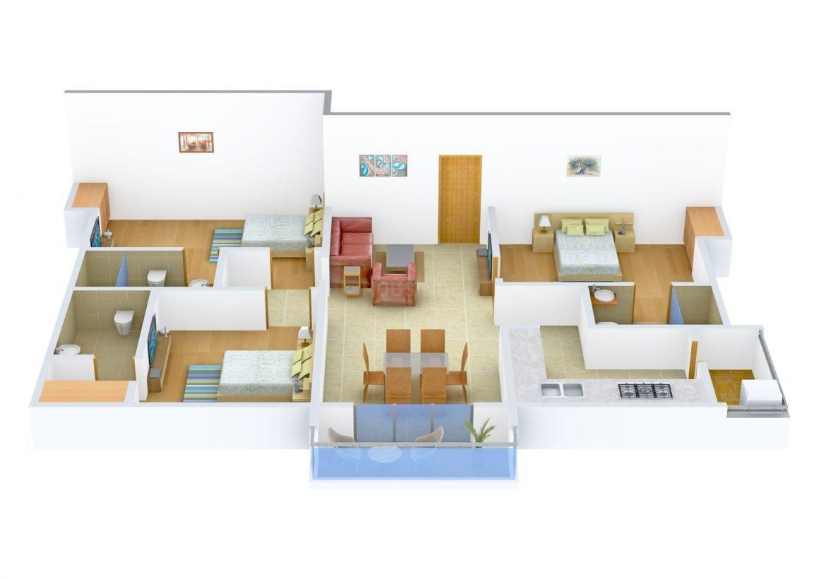 Floor Plan Image of 0 - 1530.0 Sq.ft 3 BHK Apartment for buy in The Grandiose