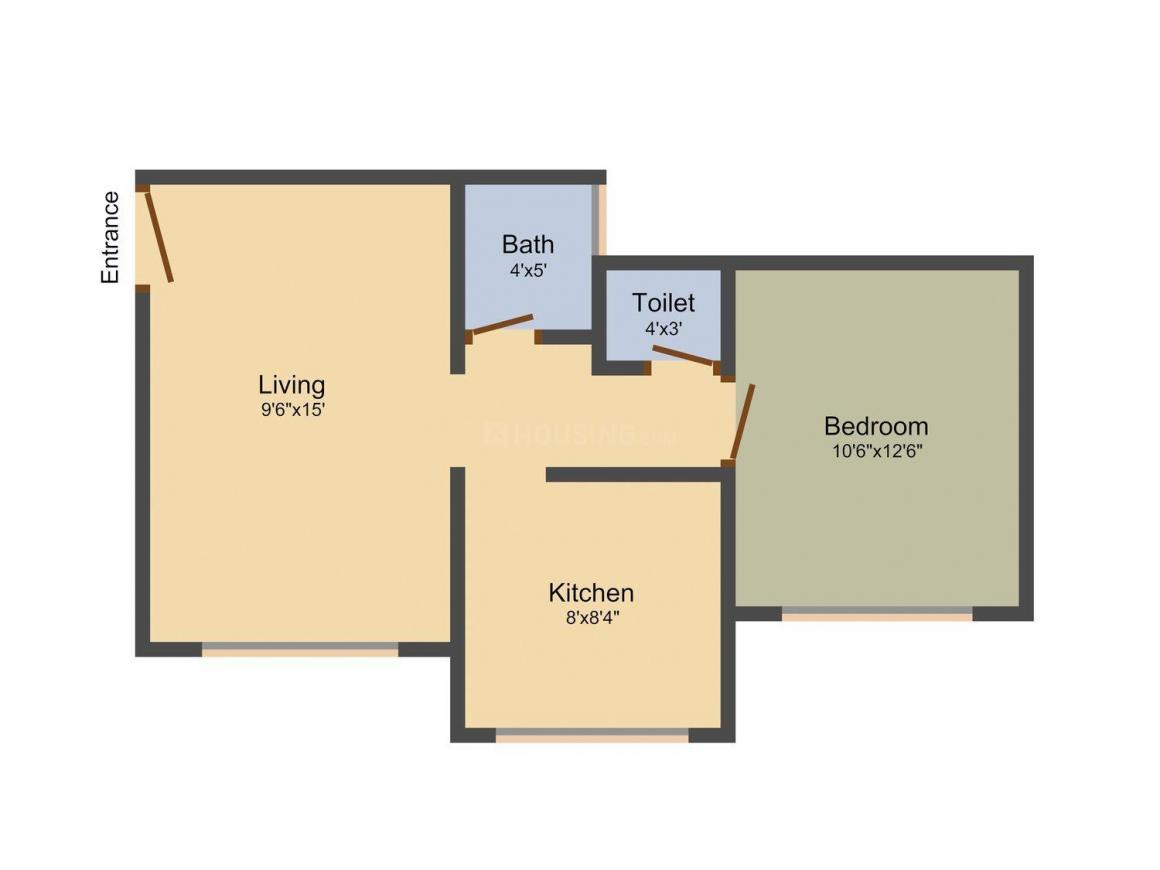 Floor Plan Image of 0 - 342 Sq.ft 1 BHK Apartment for buy in Yesu Anand Heights