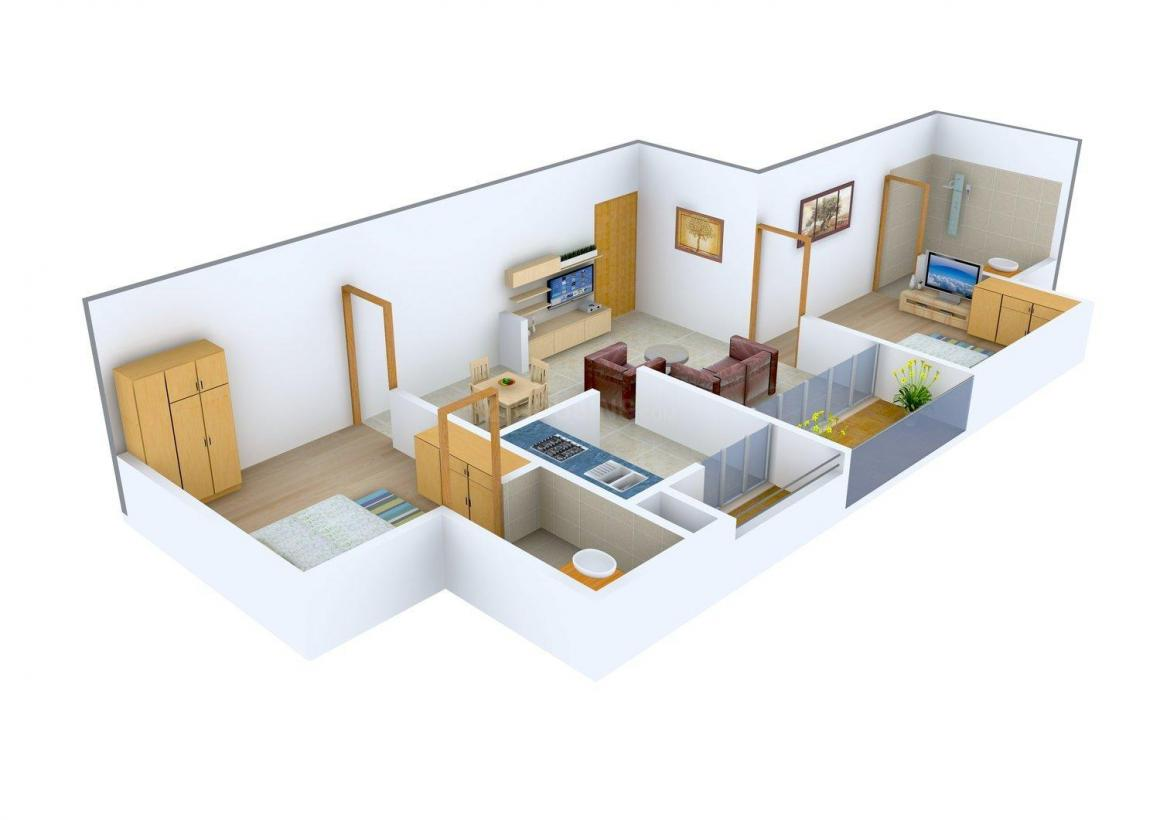 Floor Plan Image of 895.0 - 1542.0 Sq.ft 2 BHK Apartment for buy in DRA Pristine Pavilion Phase I