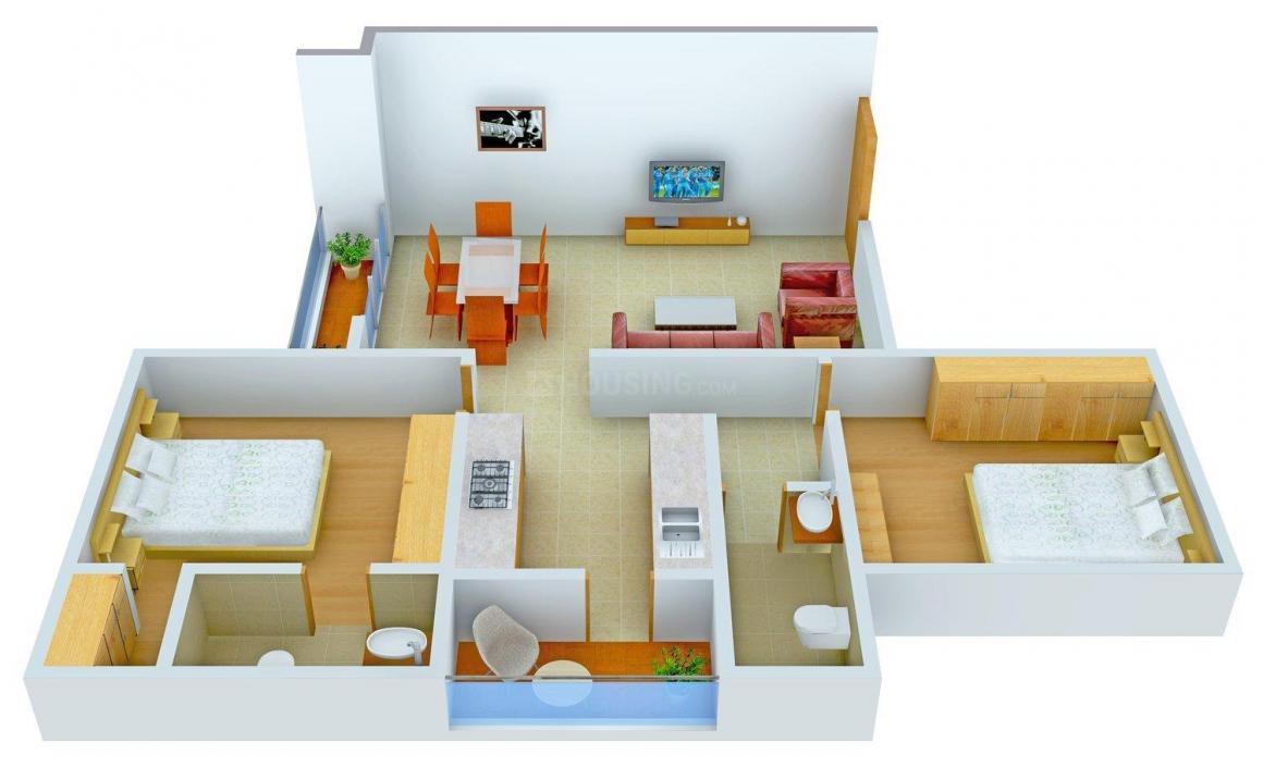 Floor Plan Image of 1200 - 1565 Sq.ft 2 BHK Apartment for buy in Shree Kalyankrupa Giriraj Greens