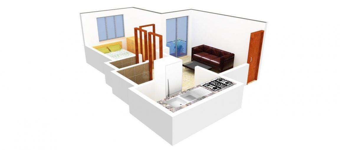 Floor Plan Image of 0 - 510.0 Sq.ft 1 BHK Apartment for buy in Maitree Sakar