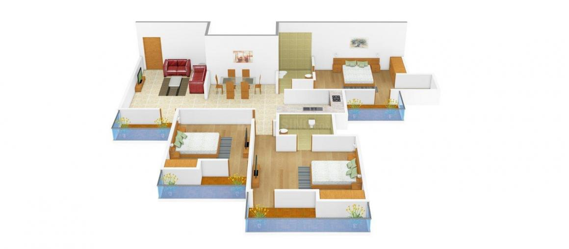 Floor Plan Image of 0 - 2160 Sq.ft 3 BHK Independent Floor for buy in Aadhar C - 96 Ardee City