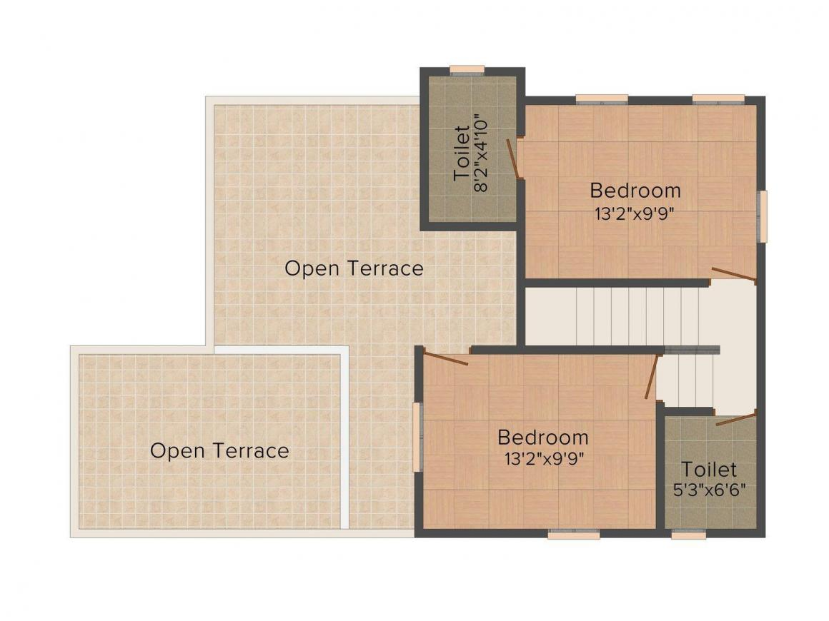 Classic Tropicana Hills Floor Plan: 3 BHK Unit with Built up area of 1449 sq.ft 2