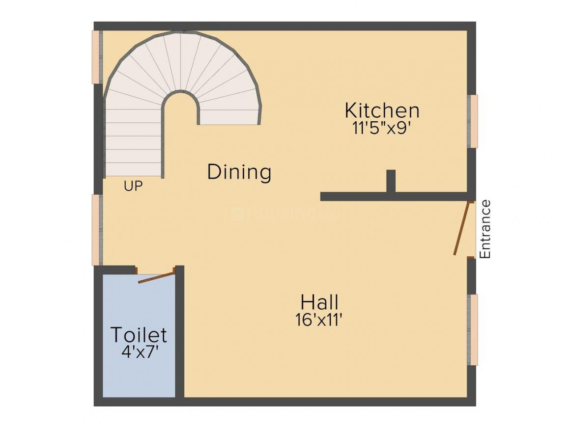 Floor Plan Image of 0 - 1123.0 Sq.ft 2 BHK Duplex for buy in VSS Sumuka